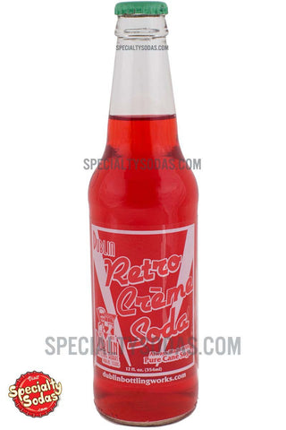Dublin Retro Creme Soda 12oz Glass Bottle