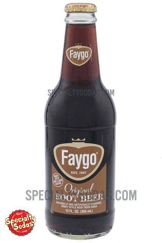 Faygo Original Root Beer 12oz Glass Bottle