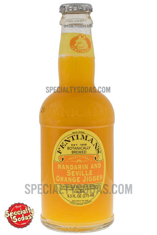 Fentimans Botanically Brewed Mandarin and Seville Orange Jigger 275ml Glass Bottle