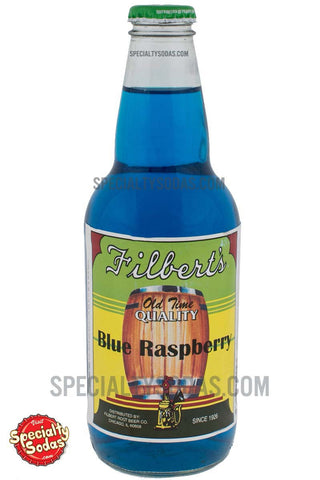 Filbert's Old Time Quality Blue Raspberry Soda 12oz Glass Bottle