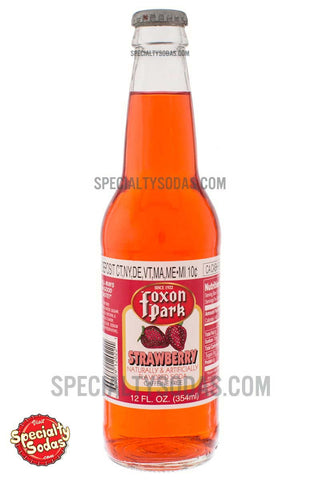 Foxon Park Strawberry Soda 12oz Glass Bottle