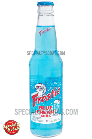 Frostie Blue Cream Soda 12oz Glass Bottle