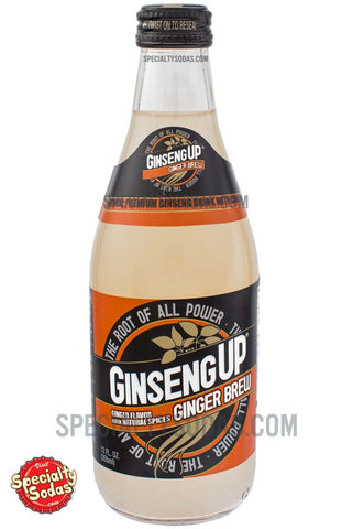 Ginseng Up Ginger Brew 12oz Glass Bottle