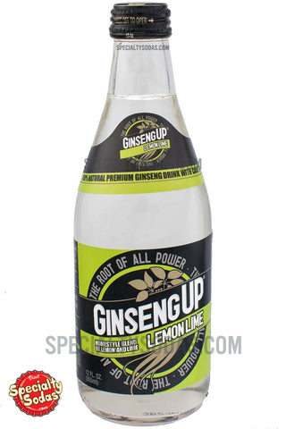 Ginseng Up Lemon Lime Soda 12oz Glass Bottle