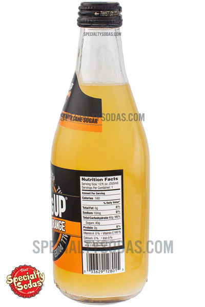 Ginseng Up Orange Soda 12oz Glass Bottle Specialty Sodas