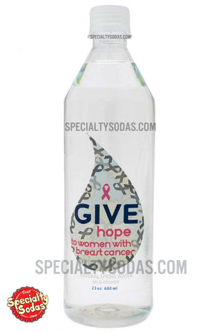 Give Hope Natural Spring Water 23oz Plastic Bottle