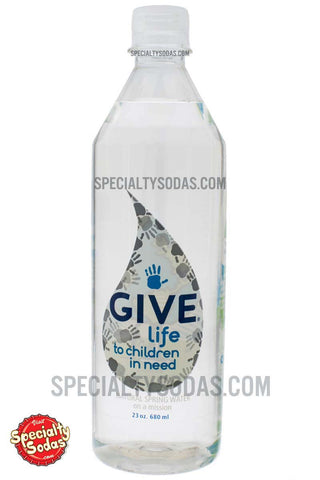 Give Life Natural Spring Water 23oz Plastic Bottle