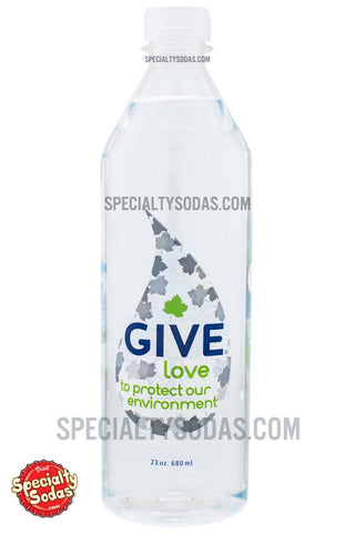 Give Love Natural Spring Water 23oz Plastic Bottle