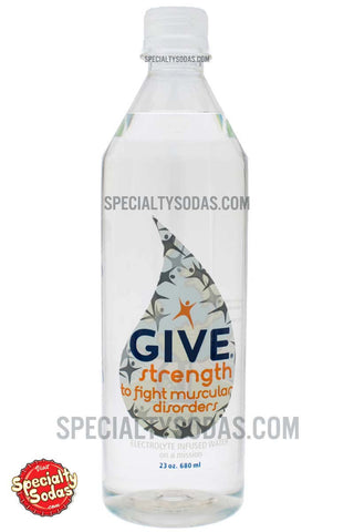 Give Strength Electrolyte Infused Water 23oz Plastic Bottle