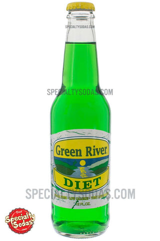 Green River Diet Soda 12oz Glass Bottle