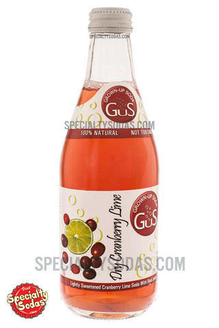 Grown-Up Soda (GuS) Dry Cranberry Lime 12oz Glass Bottle