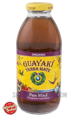 Guayaki Yerba Mate Pure Mind Pomegranate Clarity Blend 16oz Glass Bottle