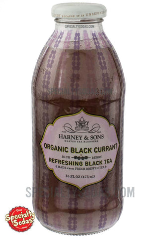 Harney & Sons Organic Black Currant Refreshing Black Tea 16oz Glass Bottle