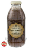 Harney & Sons Organic Coffee Tea Vibrant Coffee & Tea Blend 16oz Glass Bottle