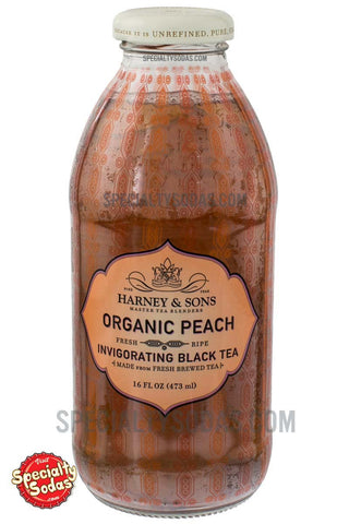 Harney & Sons Organic Peach Invigorating Black Tea 16oz Glass Bottle