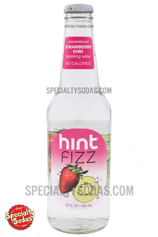 Hint Fizz Strawberry Kiwi Sparkling Water 12oz Glass Bottle