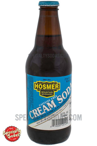 Hosmer Mountain Cream Soda 12oz Glass Bottle