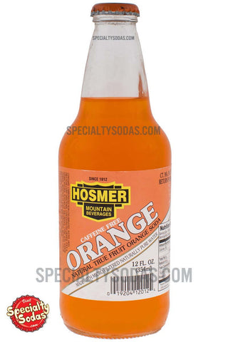Hosmer Mountain Orange Soda 12oz Glass Bottle