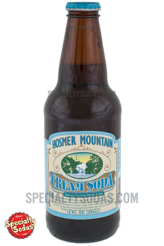"Hosmer Mountain Premium ""Antique"" Line Cream Soda 12oz Glass Bottle"