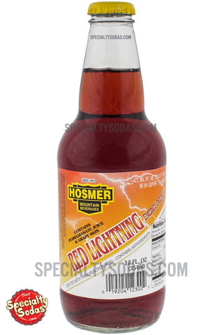 Hosmer Mountain Red Lightning Energy Drink 12oz Glass Bottle