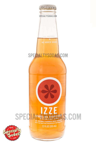 Izze Sparkling Grapefruit All Natural Flavored Juice Beverage 12oz Glass Bottle