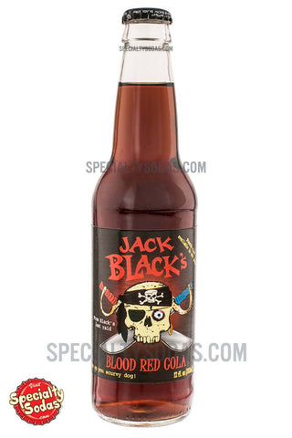 Jack Black's Blood Red Cola 12oz Glass Bottle