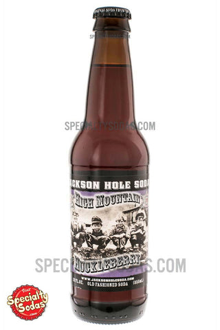 Jackson Hole Soda High Mountain Huckleberry 12oz Glass Bottle