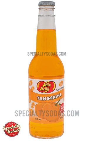 Jelly Belly Tangerine Soda 12oz Glass Bottle