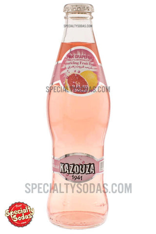 Kazouza Pink Grapefruit Sparkling Fruit Drink 9oz Glass Bottle