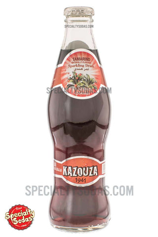 Kazouza Tamarind Sparkling Fruit Drink 9oz Glass Bottle