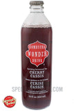 Kombucha Wonder Drink Cherry Cassis Sparkling Fermented Tea 14oz Glass Bottle