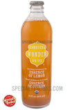 Kombucha Wonder Drink Essence of Lemon Sparkling Fermented Tea 14oz Glass Bottle