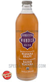 Kombucha Wonder Drink Niagara Grape Sparkling Fermented Tea 14oz Glass Bottle