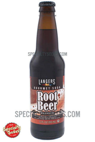 Langers Premium Root Beer 12oz Glass Bottle