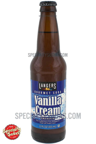 Langers Vanilla Cream Soda 12oz Glass Bottle