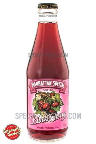 Manhattan Special Black Cherry Soda 10oz Glass Bottle