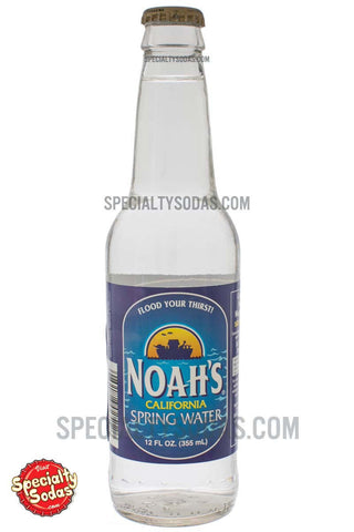 Noah's California Spring Water 12oz Glass Bottle