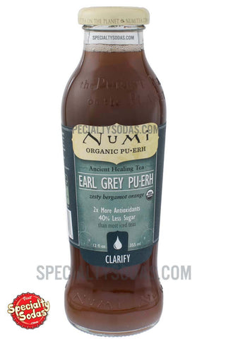 Numi Clarify Organic Earl Grey Pu-Erh 12oz Glass Bottle