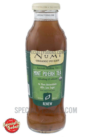 Numi Renew Organic Mint Pu-Erh Tea 12oz Glass Bottle