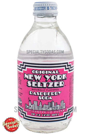 Original New York Seltzer Raspberry Soda 10oz Glass Bottle