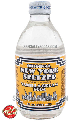 Original New York Seltzer Vanilla Cream Soda 10oz Glass Bottle