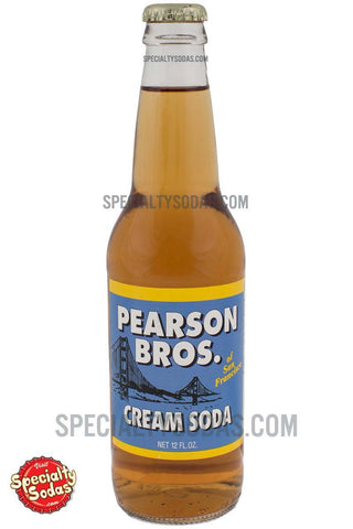 Pearson Bros. Cream Soda 12oz Glass Bottle
