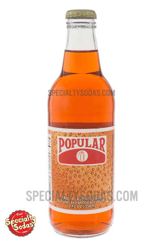 Popular Fruit Flavored Soda 12oz Glass Bottle