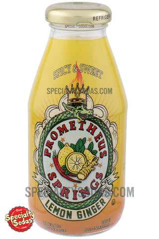 Prometheus Springs Spicy & Sweet Lemon Ginger 10oz Glass Bottle
