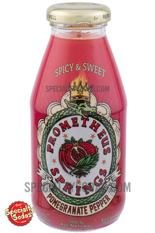 Prometheus Springs Spicy & Sweet Pomegranate Pepper 10oz Glass Bottle