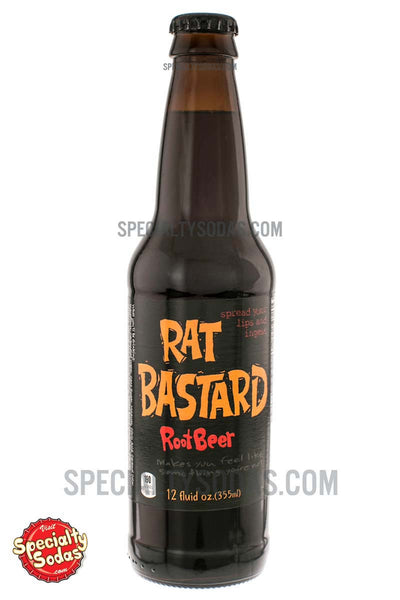 Rat Bastard Root Beer 12oz Glass Bottle Specialty Sodas