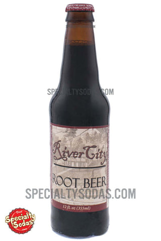 River City Root Beer 12oz Glass Bottle