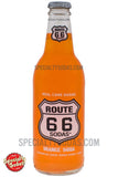 Route 66 Orange Soda 12oz Glass Bottle