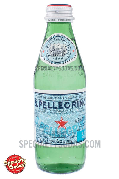 S Pellegrino Sparkling Natural Mineral Water 250ml Glass