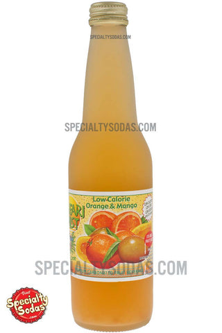 Safari Mist Orange Mango Premium Sparkling Fruit Juice Beverage 12oz Glass Bottle